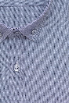 셔츠, 디테일 클로즈업 칼라 및 버튼, 평면도