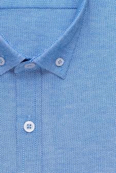 Рубашка, подробный крупный воротник и пуговица, вид сверху