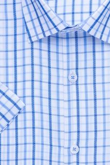 Рубашка, крупный план воротника и манжеты, вид сверху