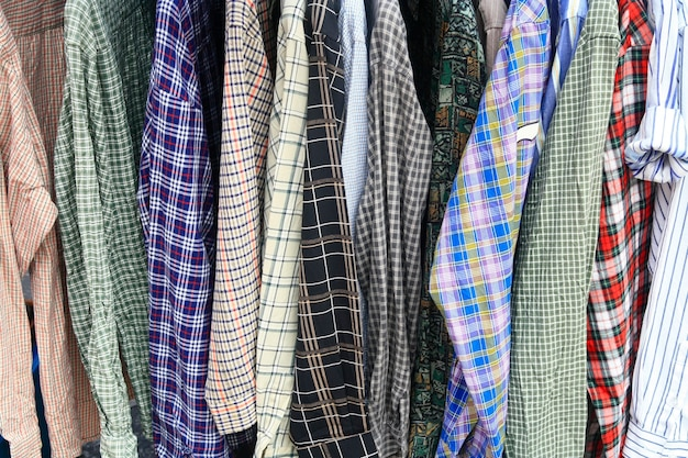 Shirt hang in shop