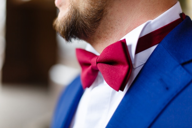 Shirt with butterfly wedding butterfly cherry beard