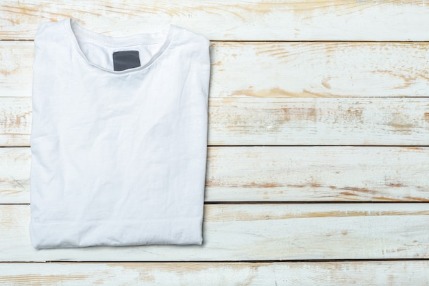 Shirt over wood background