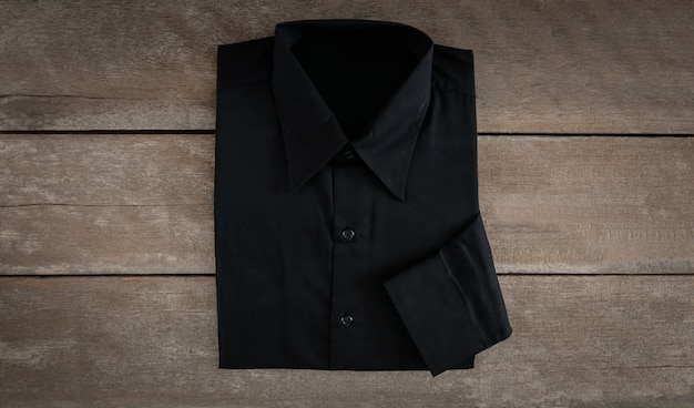 Shirt on wooden background