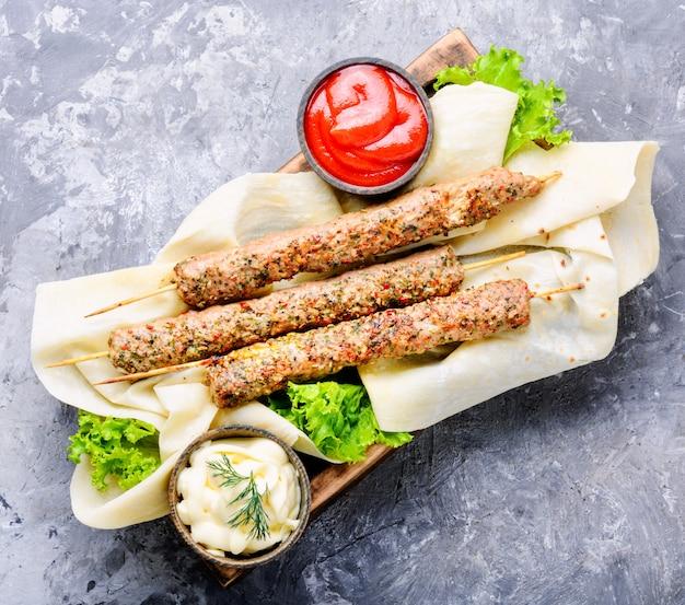 Shish kebab or lyulya-kebab