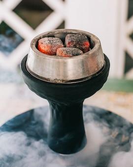 Шишская печь с огнем и паром.
