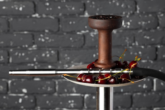 Shisha parts with fresh cherry