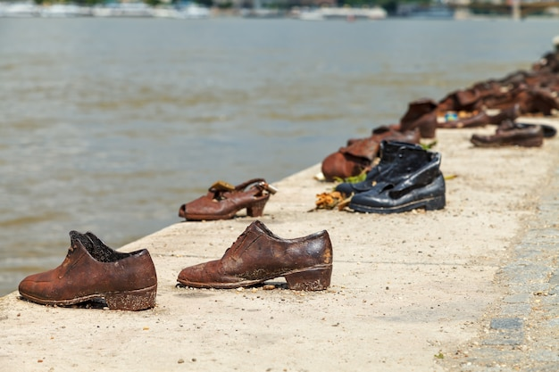 Shoes on the danube embankment - holocaust memorial