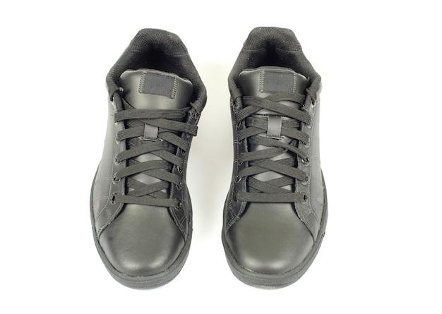 白で隔離の靴。上面図