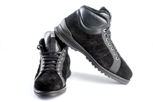 白い背景の上の靴