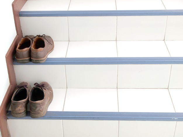 Shoes on staircase
