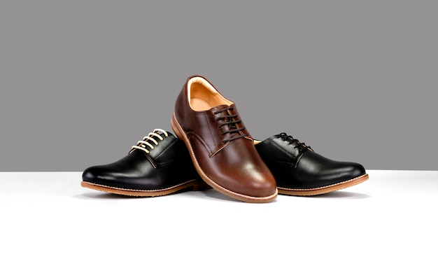 Shoes with black and brown