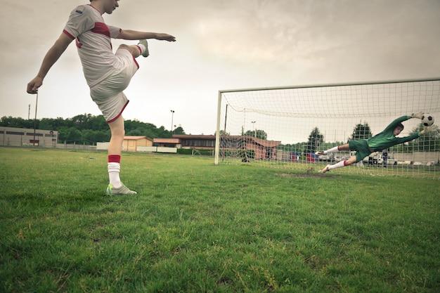 Shooting a goal