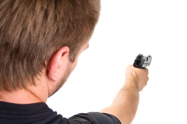 Стрельба. изолированные Premium Фотографии