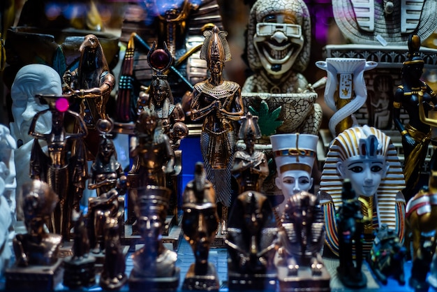 관광객을 위한 이집트 기념품 쇼핑
