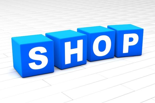 Shop word illustration