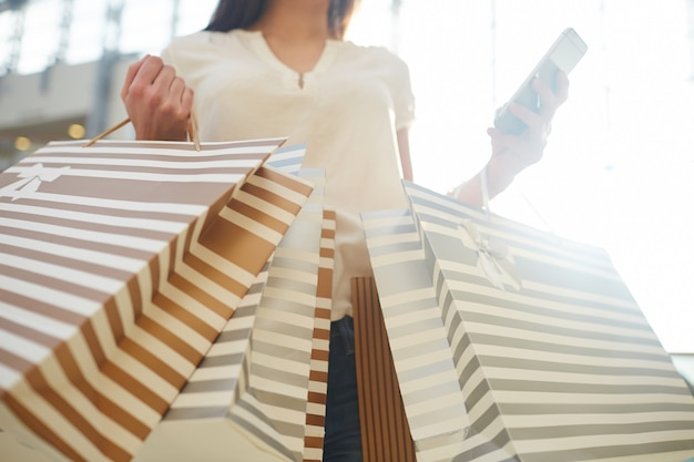 Shopper with purchases