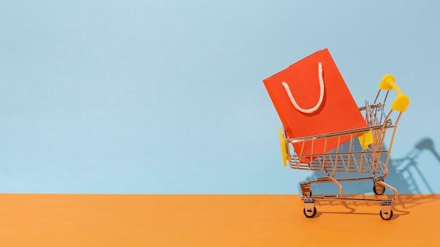 Shopping bag in cart