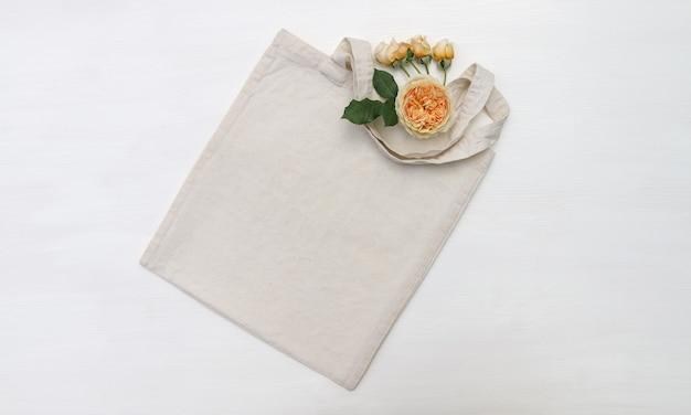 Shopping bag  with flowers