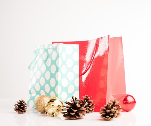 ショッピングバッグクリスマス