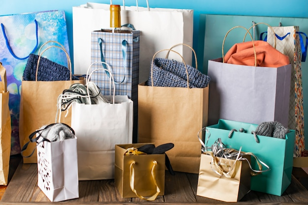 Shopping bags, sales, presents