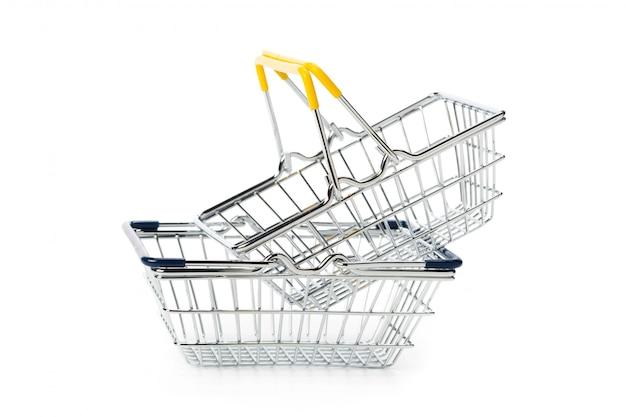 Shopping basket isolated on white surface
