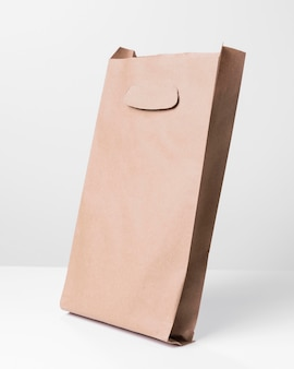 Shopping brown paper bag with shadows