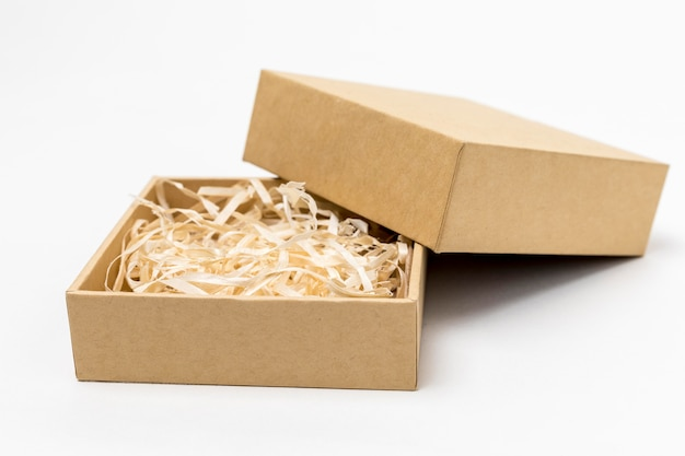 쇼핑 골판지 상자 배열
