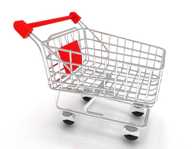 ショッピングカートの3dアイコン