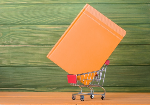 Shopping cart and  book