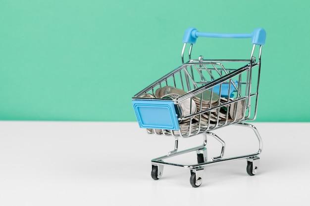 Shopping cart full of coin