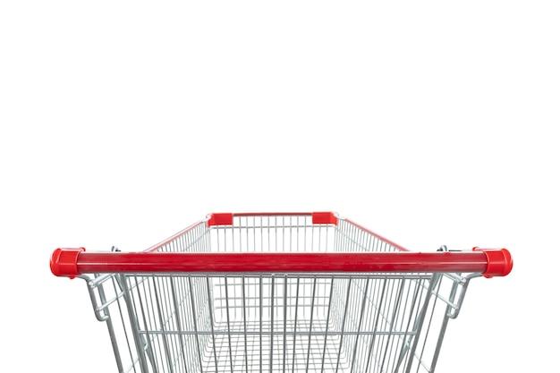 白い背景で隔離のショッピングカート