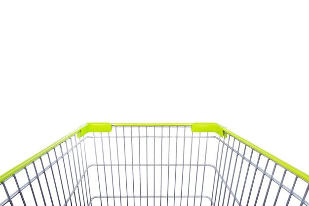 쇼핑 카트 흰색 절연