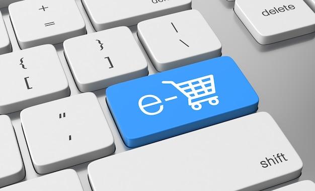 Shopping cart on keyboard button