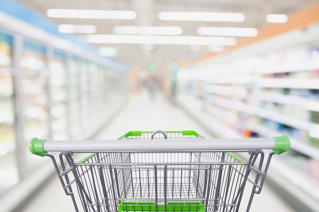スーパーマーケットのショッピングカート