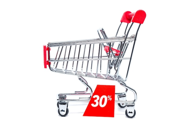 Shopping cart with a discount