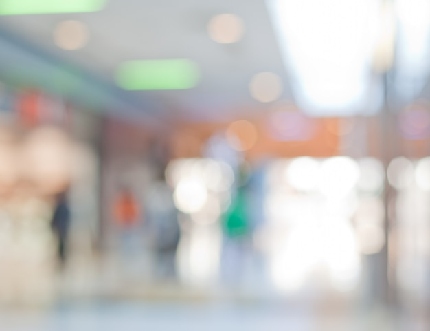 Shopping center out of focus