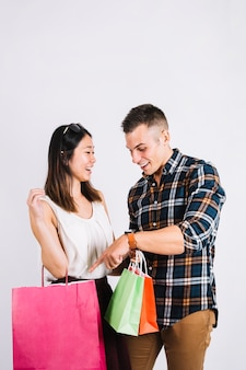 Shopping concept with happy couple