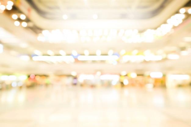 Торговый центр абстрактный расфокусированным размытый фон. бизнес-концепция