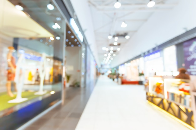 Shopping mall blurred for background