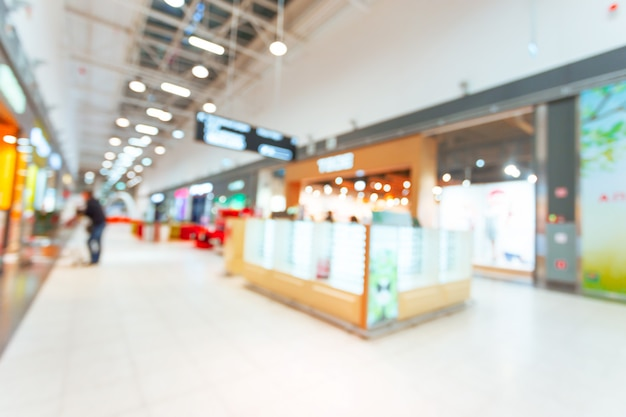 Shopping mall blurred