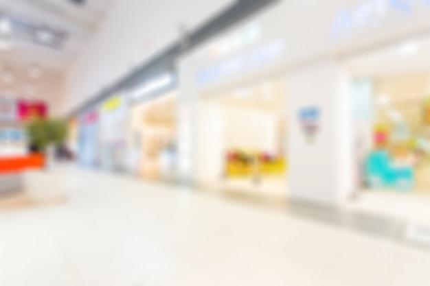 Shopping mall blurred