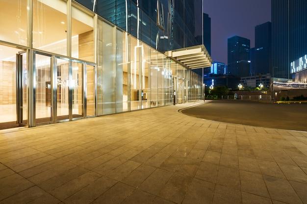 Shopping mall building at night, chongqing financial city, china