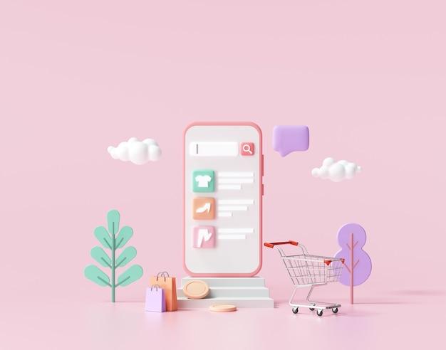 Онлайн-приложение для покупок на смартфоне, мобильные онлайн-покупки и доставка