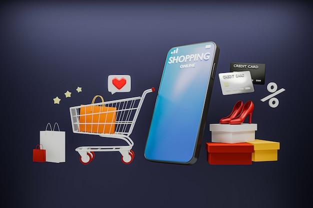 アプリでスマートフォンを使ってオンラインショッピング