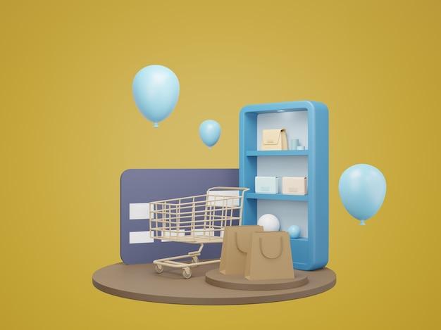 Покупки в интернете с воздушным шаром