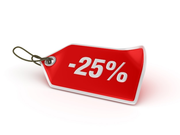 Shopping price tag -25%