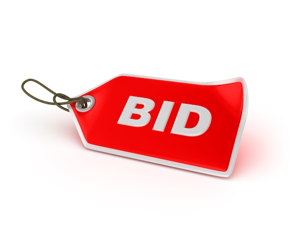 Shopping price tag bid