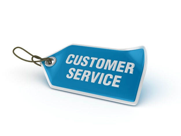 Shopping price tag customer service