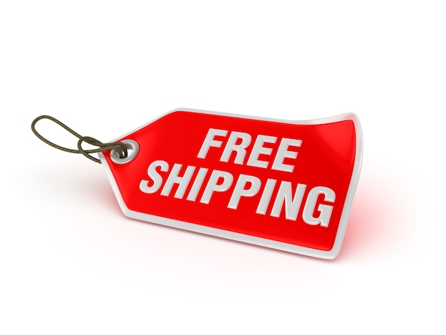 Shopping price tag free shipping