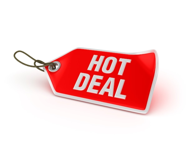Shopping price tag: hot deal